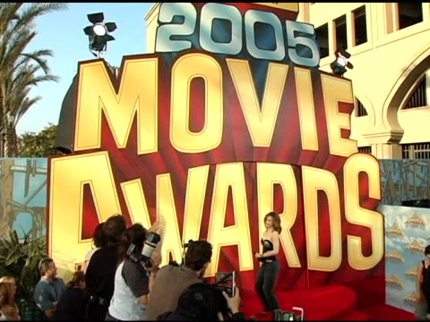rachel mcadams at the 2005 mtv movie awards arrivals at the shrine auditorium in los angeles, california on june 4, 2005. - shrine auditorium stock videos & royalty-free footage