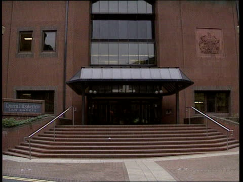 rachel mclean murderer; england: birmingham crown court entrance to court sign by entrance 'queen elizabeth ii law courts - courthouse stock videos & royalty-free footage
