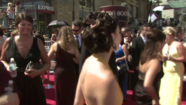 rachel melvin at the 35th annual daytime emmy awards @ the kodak theatre at hollywood california. - デイタイム・エミー賞点の映像素材/bロール