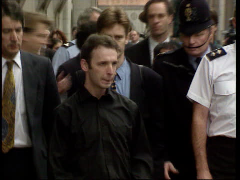 Police rethink possible link to other unsolved cases LIB London Old Bailey Colin Stagg along through press outside court PULL OUT