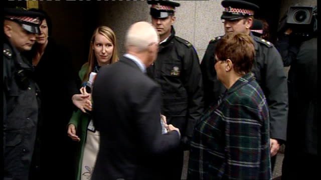 robert napper pleads guilty andrew and monica nickell away into court after reading statement to press - robert napper stock videos & royalty-free footage