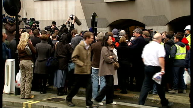 robert napper pleads guilty old bailey press crowded around court entrance - robert napper stock videos & royalty-free footage