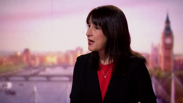 """rachel reeves talking about rishi sunak's meetings with david cameron and greensill - """"bbc news"""" stock videos & royalty-free footage"""