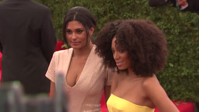 """rachel roy and solange knowles at """"schiaparelli and prada: impossible conversations"""" costume institute gala at metropolitan museum of art on may 07,... - rachel roy designer label stock videos & royalty-free footage"""