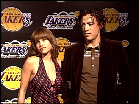 rachel sterling at the los angeles lakers youth foundation at barker hanger in santa monica california on april 8 2004 - pound sterling symbol stock videos & royalty-free footage