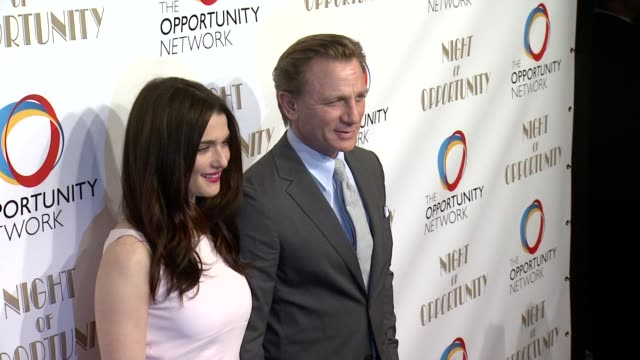 rachel weisz and daniel craig at the opportunity networks 7th annual night of opportunity at cipriani wall street on april 07 2014 in new york city - daniel craig stock videos and b-roll footage