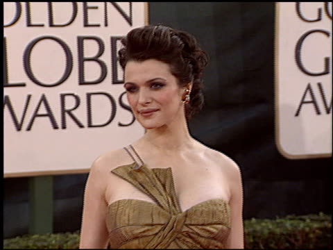 rachel weisz at the 2006 golden globe awards at the beverly hilton in beverly hills california on january 16 2006 - rachel weisz stock videos & royalty-free footage