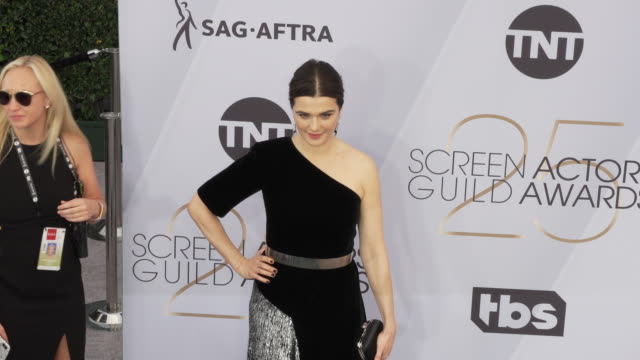 rachel weisz at the 25th annual screen actors guild awards at the shrine auditorium on january 27 2019 in los angeles california - rachel weisz stock videos & royalty-free footage