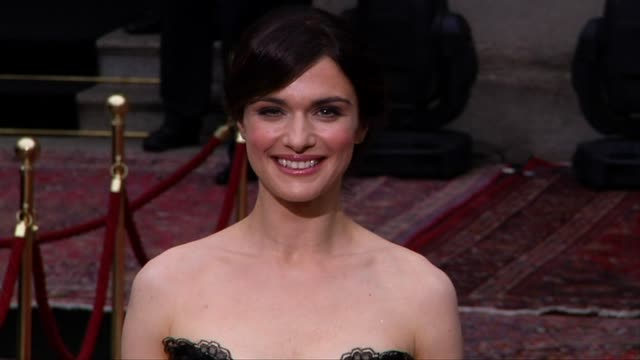 rachel weisz at the dolce & gabbana 20 years of menswear party red carpet arrivals at milan . - dolce & gabbana stock-videos und b-roll-filmmaterial