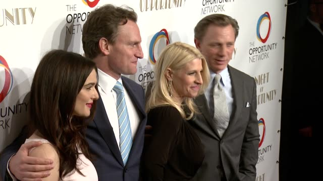 rachel weisz jason wright jessica pliska and daniel craig at the opportunity networks 7th annual night of opportunity at cipriani wall street on... - daniel craig stock videos and b-roll footage