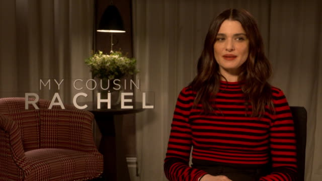 interview rachel weisz on female characters being defined as a 'strong woman' at 'my cousin rachel' interviews on june 7 2017 in london england - rachel weisz stock videos & royalty-free footage