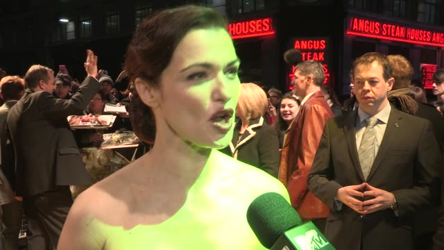 interview rachel weisz on the film being in tokyo what she took from set why she choose the role at 'oz the great powerful' european premiere at... - rachel weisz stock videos & royalty-free footage