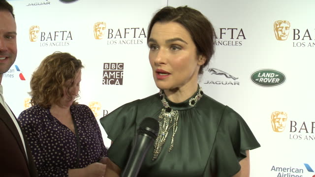 interview rachel weisz on why is the bafta la tea party a mustattend event for you on who are you most excited to see at this year's golden globes at... - rachel weisz stock videos & royalty-free footage