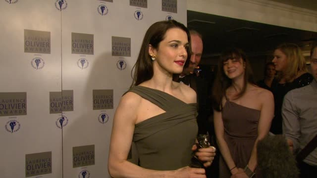 Rachel Weisz on winning her award on being nervous not having the right words to say at the 2010 Laurence Olivier Awards at London England