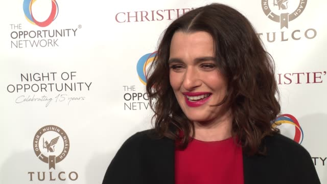 INTERVIEW Rachel Weisz on working with the Opportunity Network what is the most rewarding working with them and why its important to give back to the...
