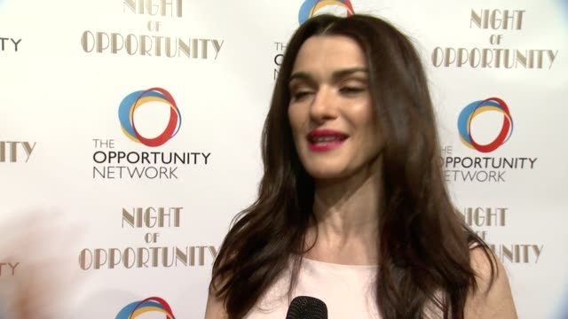 interview rachel weisz shares how she got involved with the opportunity network and why their work is so important what it means to be honored advice... - rachel weisz stock videos & royalty-free footage