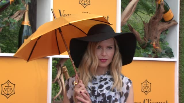 rachel zoe at the fifth annual veuve clicquot polo classic at liberty state park on june 02 2012 in jersey city new jersey - 動物を使うスポーツ点の映像素材/bロール