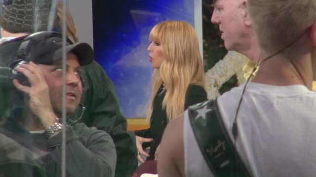 Rachel Zoe being interviewed on the set of the Good Morning America show in Celebrity Sightings in New York