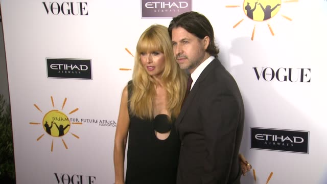 rachel zoe, rodger berman at gelila and wolfgang puck's dream for future africa foundation gala in beverly hills, ca, on . - ウォルフギャング パック点の映像素材/bロール