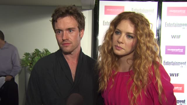 rachelle lefevre and jamie thomas king on the event, emmy week, their favorite shows. at the entertainment weekly - women in film pre-emmy party at... - rachelle lefevre stock videos & royalty-free footage
