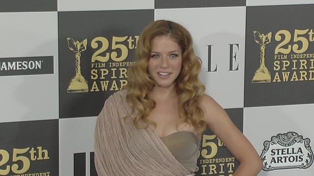 rachelle lefevre at the 2010 film independent's spirit awards - arrivals at los angeles ca. - rachelle lefevre stock videos & royalty-free footage