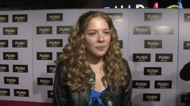 rachelle lefevre on the event, psychic powers, new moon at the 'push' premiere at los angeles ca. - rachelle lefevre stock videos & royalty-free footage