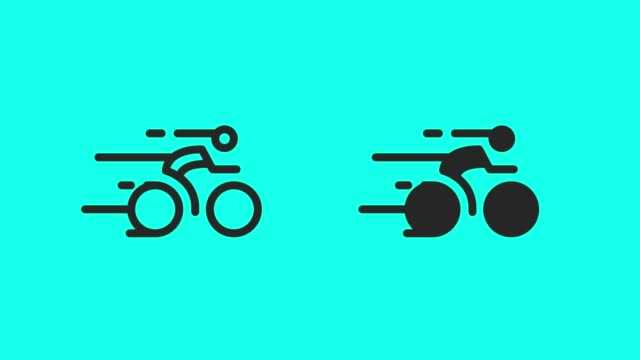racing bicycle icons - vector animate - world sports championship stock videos & royalty-free footage