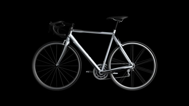 racing bicycle rotating loop isolated with luma matte zg - racing bicycle stock videos & royalty-free footage