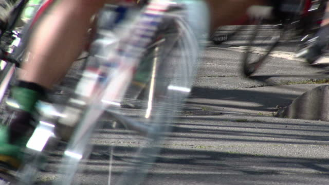 Racing Bicycles Through Turn
