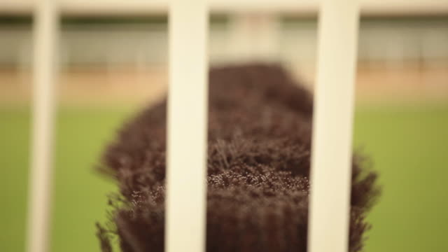 racing fence pull focus - steeplechase stock videos and b-roll footage