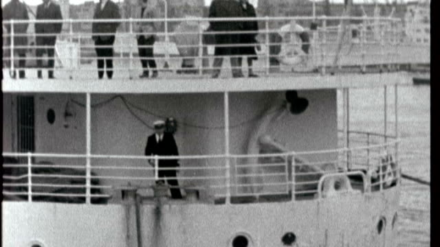 50th anniversary of martin luther king speech at st paul's cathedral; 1964 x10026503 italy: genoa: ext b/w archive footage of liner ship 'ipirnia'... - racism stock videos & royalty-free footage