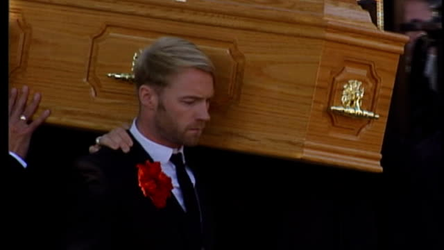 racism / homophobia free speech debate lib dublin sheriff street st laurence o'toole's church ext stephen gately's coffin corried from church at... - homophobia stock videos and b-roll footage