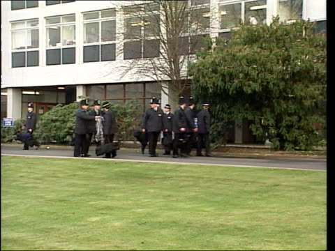 racism in metropolitan police lib ext ls police recruits outside hendon police training college ls three male police recruits along two are white one... - military recruit stock videos and b-roll footage