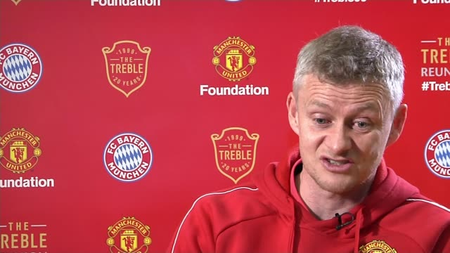 racial abuse driving players out of game at all levels england int ole solskjaer interview sot london ext martin glenn doorstep interview sot we take... - out take stock videos and b-roll footage