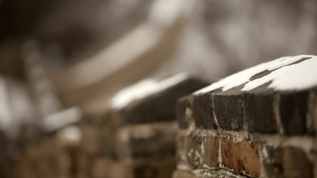 万里の長城をラック フォーカス