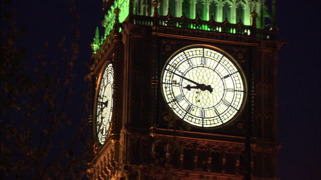rack focus of a close up of the clock face on big ben in london, england. - music or celebrities or fashion or film industry or film premiere or youth culture or novelty item or vacations stock videos & royalty-free footage