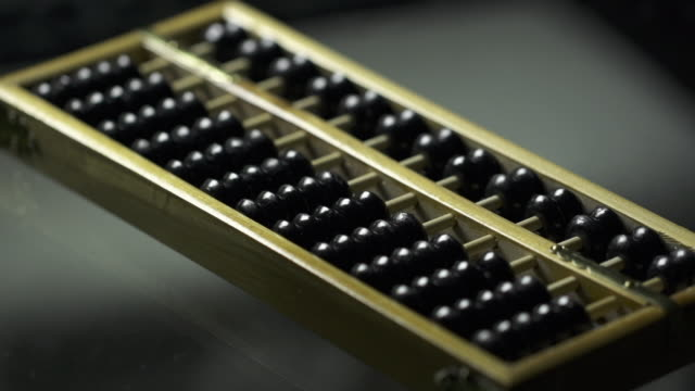 Rack focus of Traditional Maths Tool Abacus