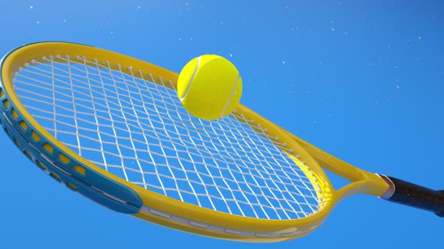 racket hit ball - tennis racket stock videos & royalty-free footage