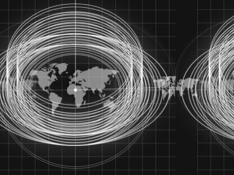 radar and world map - longitude stock videos & royalty-free footage