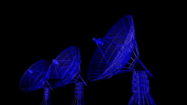 radar antenna - antenna parte del corpo animale video stock e b–roll