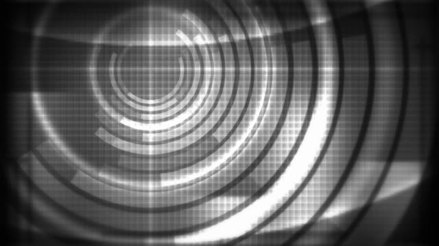 radar circles - grey (hd) - grid pattern stock videos and b-roll footage