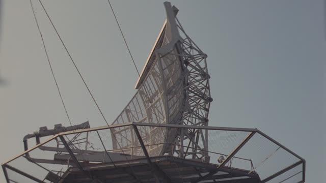 radar dish at airport - radar stock videos & royalty-free footage