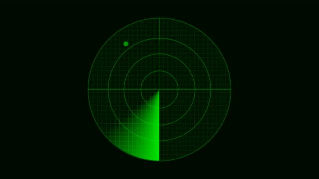 Radar display a target
