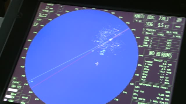 a radar screen on a global positioning system displays the location of a ship during its travels. available in hd. - direction stock videos & royalty-free footage
