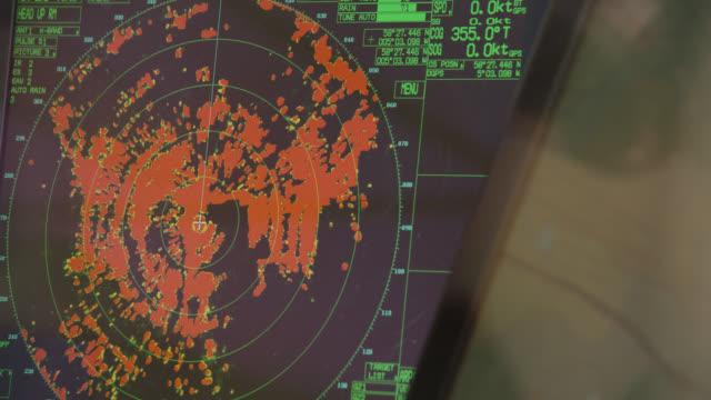 radar screen on fishing trawler, scotland, uk - graphical user interface stock videos & royalty-free footage
