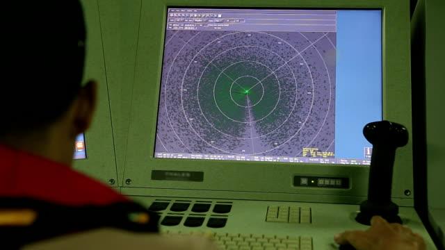 レーダー画面 - 電波探知機点の映像素材/bロール
