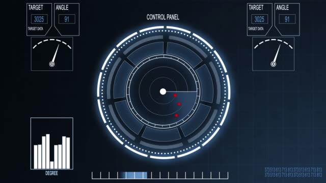 radar bildschirm  - militärisches ziel stock-videos und b-roll-filmmaterial