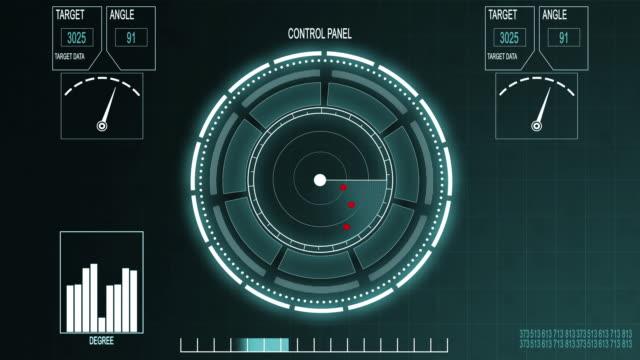 4k radarschirm - militärisches ziel stock-videos und b-roll-filmmaterial
