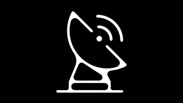 アルファ付きのレーダー信号黒板ライン アニメーション - 放送点の映像素材/bロール