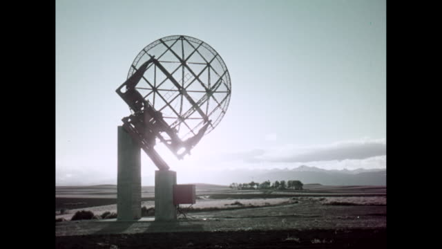 ws radar tower against sky / united states - astronomical telescope stock videos & royalty-free footage